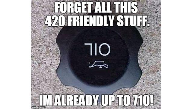 710 written in oil