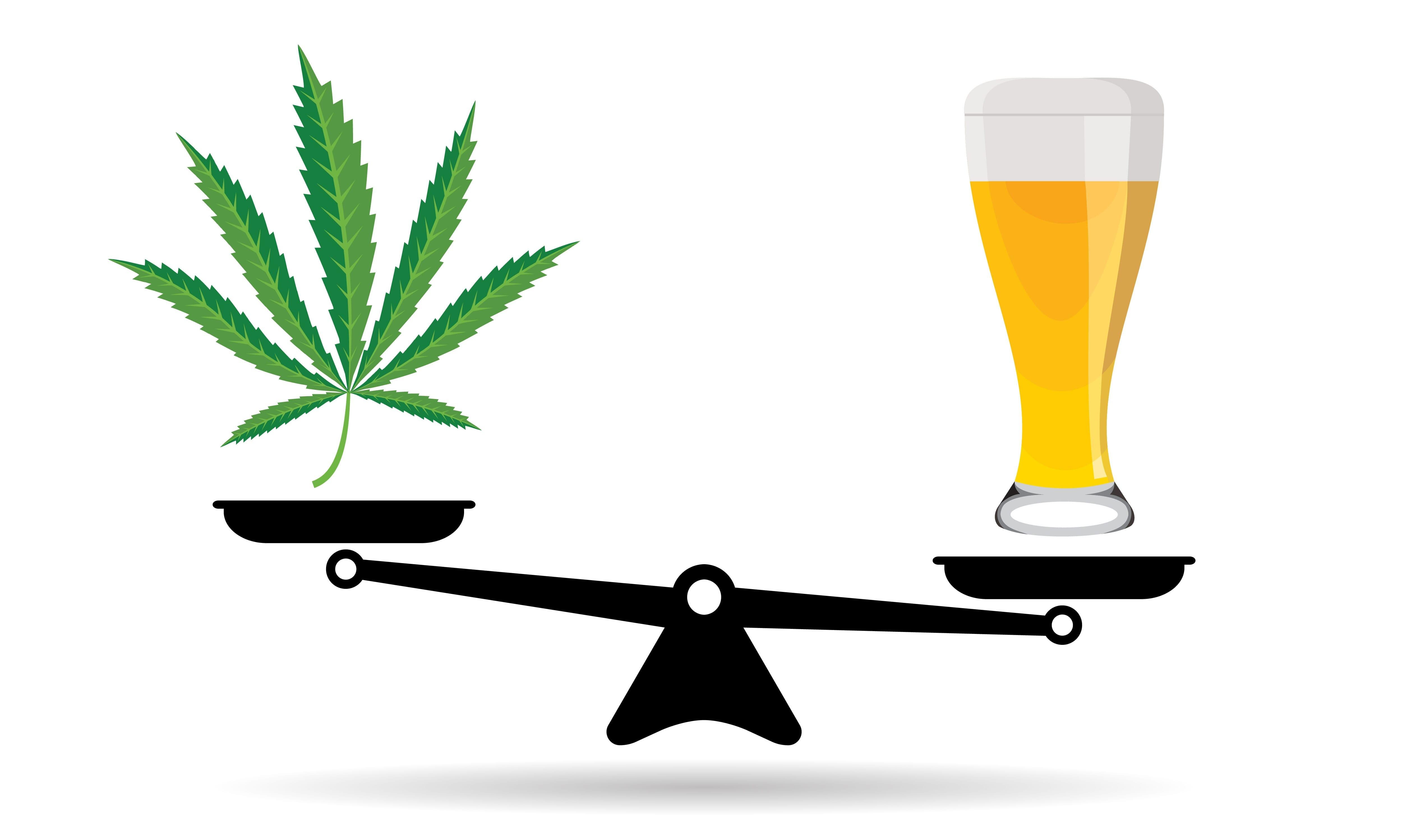 alcohol versus weed