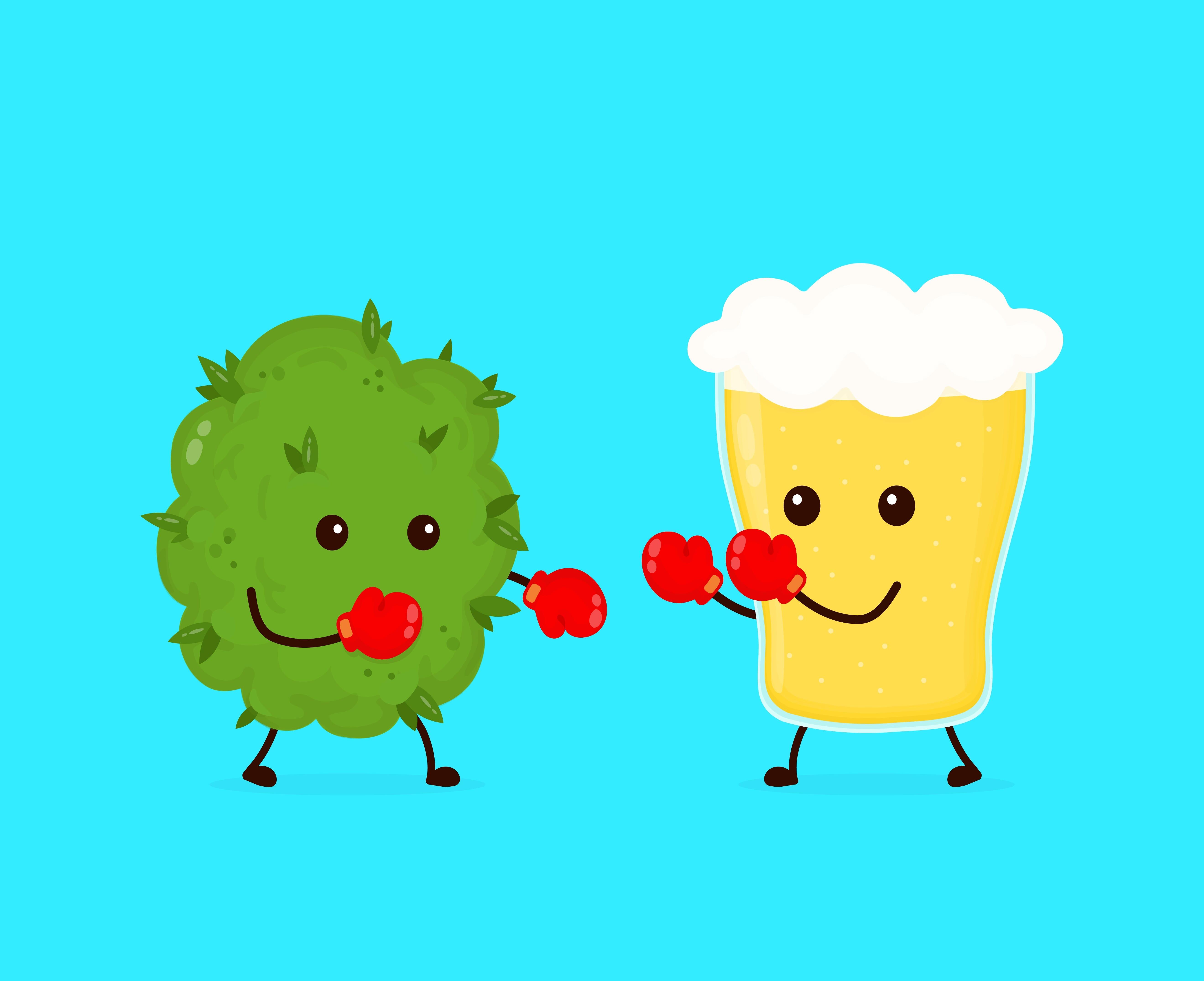 weed versus alcohol